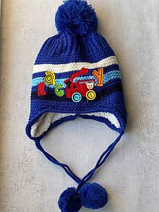 Шапка на завязках для мальчика