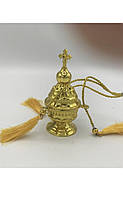 Кадило декоративное маленькое золотистое