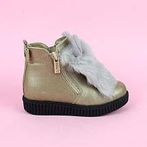 Шкіряні зимові черевики для дівчинки тм Олтея р. 27,33, фото 2
