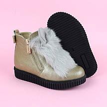 Шкіряні зимові черевики для дівчинки тм Олтея р. 27,33, фото 3