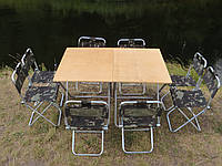 """Туристичний стіл і стільці, набір на природу, складні меблі для пікніка """"Кемпінг Ф2Х+8"""" купити пром юа"""