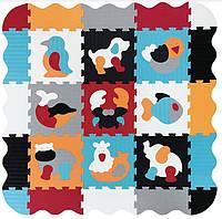 Дитячий килимок-пазл Baby Great Улюблені тварини з бортиком 122х122 см (GB-M2006E)