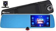 """Сенсорный видеорегистратор зеркало DVR C33 с тремя камерами 5"""" (5522)"""