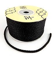 Шнур нейлоновый, черный, 3мм, 30м