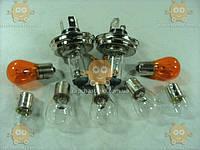 Лампы УАЗ 469, 452, 3151, 31512 Хантер (к-кт 9шт) на фары, подфарники, повторители, фонари и фонарь заднего