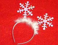 Обруч перламутровые снежинки