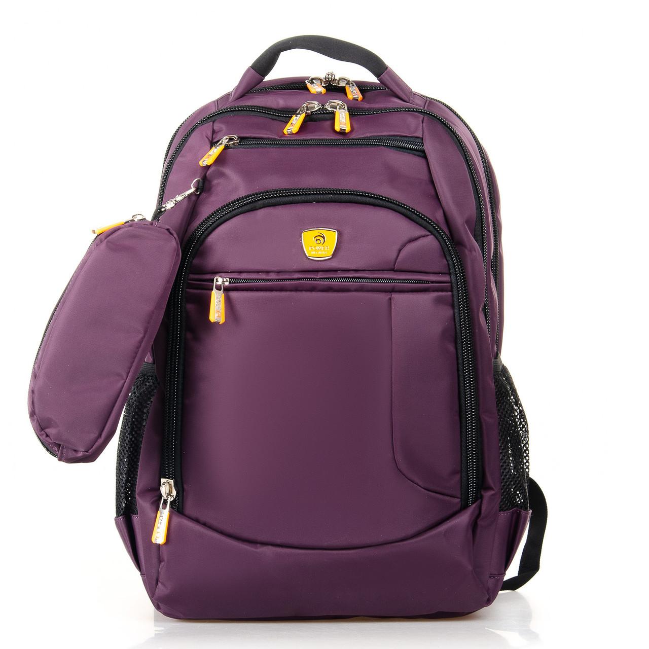 Рюкзак школьный подростковый для мальчика 2 отдела фиолетовый 45*34 см Power In Eavas 5143