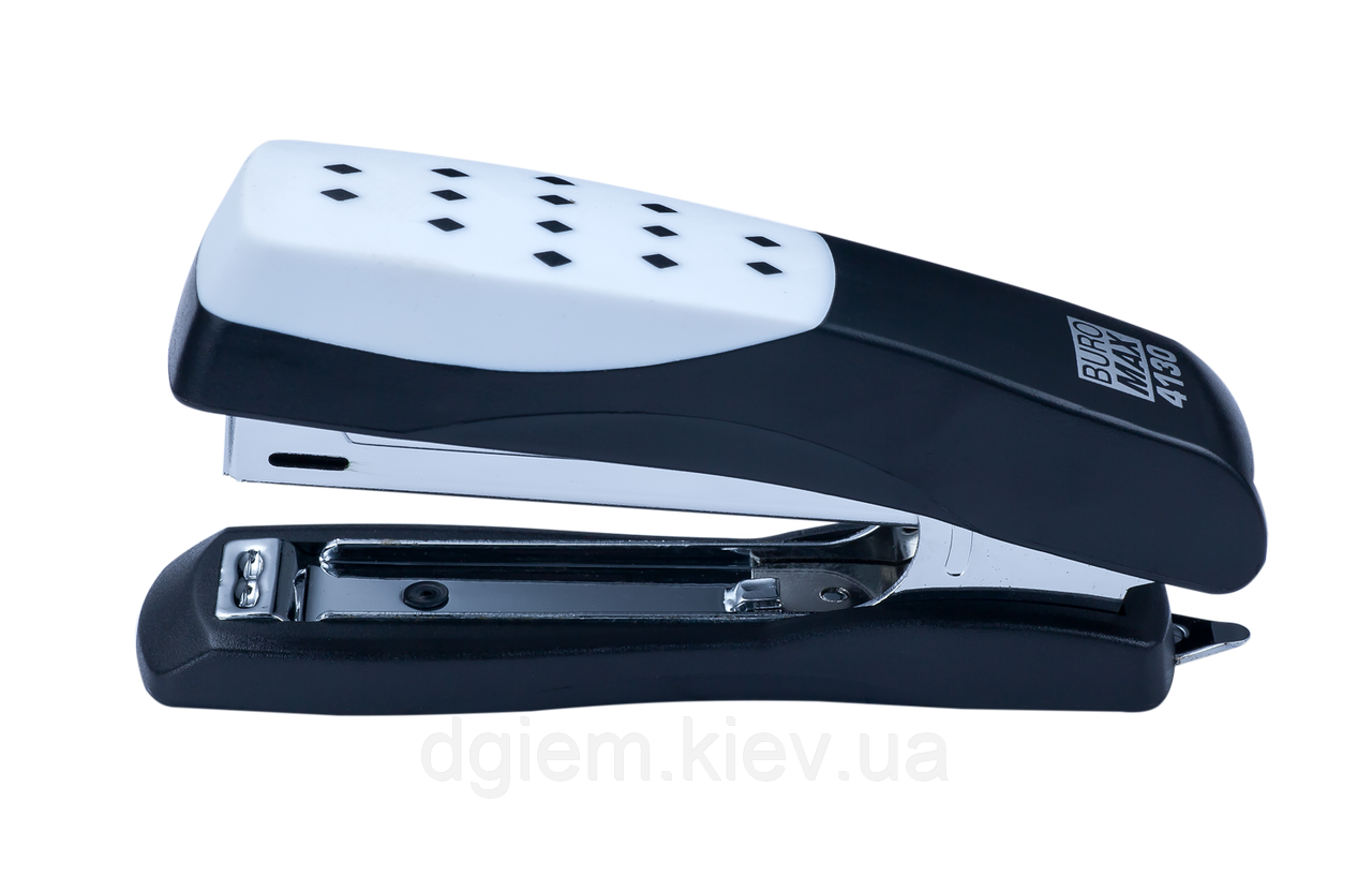 "Степлер пластиковый ""Шахматка"" BUROMAX 15л (скобы №10) ВМ.4130"