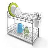 Сушилка для посуды 52x23x37 см DOUBLE-TEX METALTEX 323302, фото 2