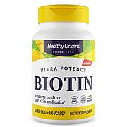 Биотин (В7) 10000мкг, Healthy Origins, 60 гелевых капсул