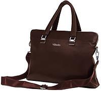 Женский деловой портфель из эко кожи Villado коричневый