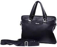 Женский деловой портфель из эко кожи Villado черный