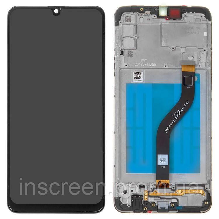Дисплейний модуль для Samsung A207 Galaxy A20S (2019) з рамкою чорний (GH81-17774A) Оригінал
