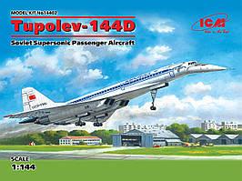 Советский сверхзвуковой пассажирский самолет Туполев-144Д. 1/144 ICM 14402