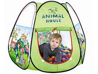 Намет дитячий Animal House 106*106*103см дитячі Китай 3305