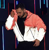 Куртка демисезонная мужская Пушка Огонь Yard красно-рефлективная, фото 1