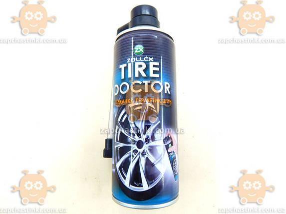 Засіб для ремонту проколів шин (герметик шин) 450мл Tire Doctor (пр-во Zollex) АХ 149662, фото 2