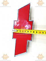 Емблема Chevrolet на скотчі (Важливо виміряти габарити: 210х77мм) УЦІНКА подряпини (Передоплата), фото 3