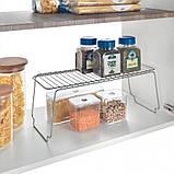 Полка для специй кухонная 45х19х18 см серый металлик METALTEX Polo 362000, фото 2