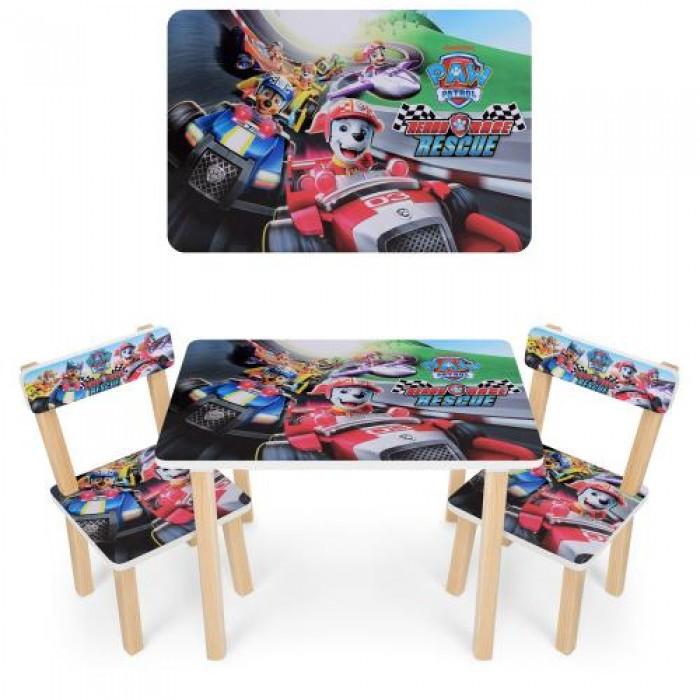Детский столик со стульчиками деревянный 501-79