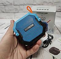 Портативная беспроводная bluetooth юсб колонка для музыки блютуз акустика для телефона синяя Мини