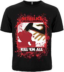 "Футболка Metallica ""Kill'em All"", черная, Размер XL"