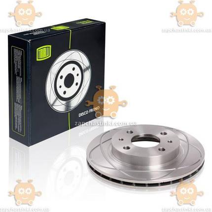 Диск гальмівний ВАЗ 2110 - 2112 R13 вентиляція з виточкою (пр-во Trialli) ЗЕ 00042629, фото 2
