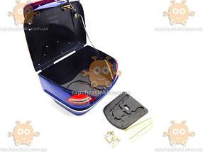Багажник мото (кофра МЕРСЕДЕС) синяя ПД 88548, фото 3