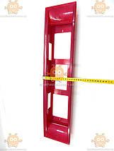 Рамка катафот под номер задний ВАЗ 2108 - 2109 красная (пр-во Россия) ПД 124046, фото 3