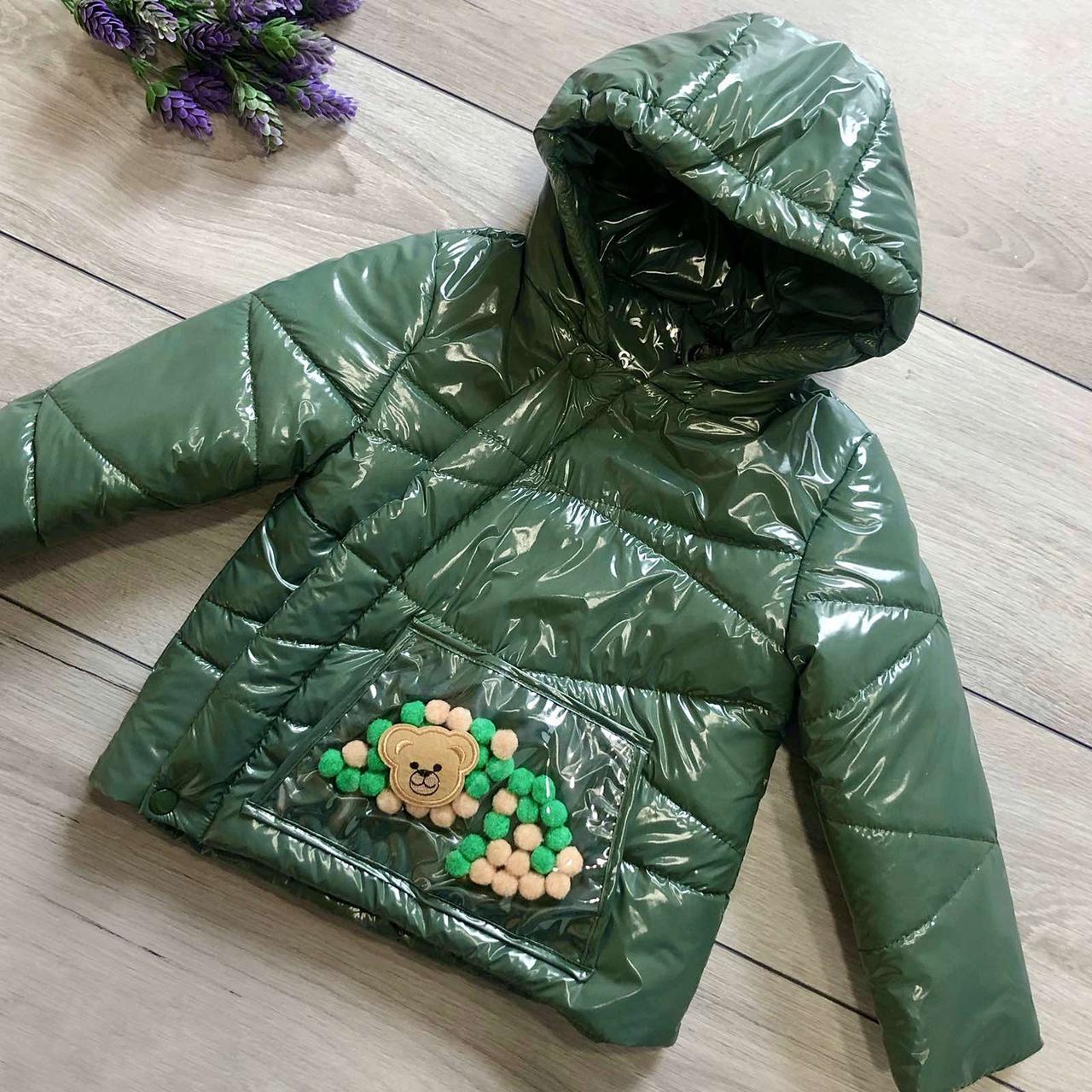 Курточка детская Wellajur kids (хаки) 92 см
