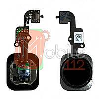 Шлейф Apple iPhone 6, 6 Plus з кнопкою меню Home чорний AAA