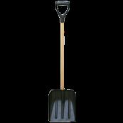 Лопата автомобильная совковая для уборки снега 310 х 270 мм с черенком 890 мм