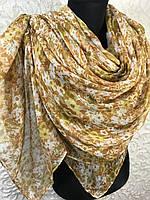 Женский широкий шарф в цветочек (цв.1), фото 1