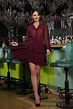 Платье шифоновое бордовое Лора, фото 2