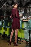 Платье шифоновое бордовое Лора, фото 3