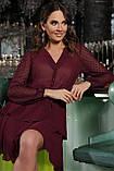 Платье шифоновое бордовое Лора, фото 4