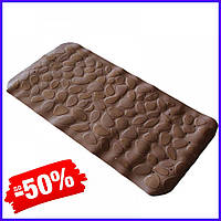 Коврик Bathlux Stone 40248 антискользящий резиновый на пол в ванную и душевую кабину 36х75 см