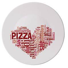 "Блюдо ""I LOVE PIZZ RED"" д/піцци RONDA 33 см"