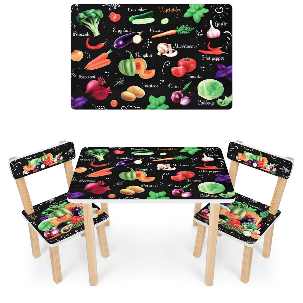 Детский столик со стульчиками деревянный 501-112(EN)