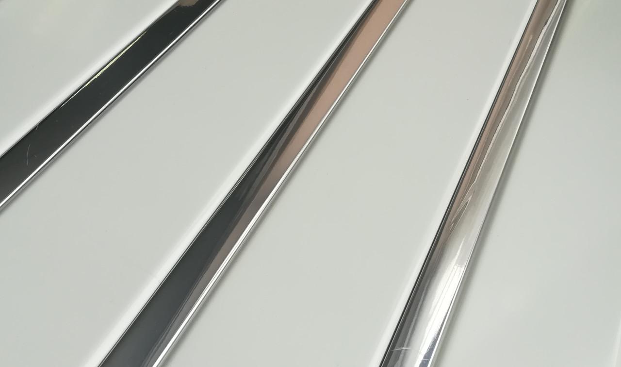 Реечный алюминиевый потолок Allux белый матовый - хром зеркальный комплект 200 см х 240 см