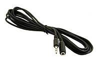 Аудио-кабель 3.5 jack/M/F(удлинитель) 1,5м_1041
