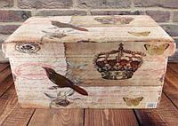 Банкетка пуфик в стилі Шеббі Шик з ящиком SH31433-443