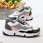Жіночі кросівки мультиколор, комбінація матеріалів, фото 10