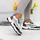 Жіночі кросівки мультиколор, комбінація матеріалів, фото 4