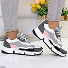 Жіночі кросівки мультиколор, комбінація матеріалів, фото 6