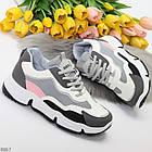 Жіночі кросівки мультиколор, комбінація матеріалів, фото 8