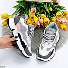 Жіночі кросівки мультиколор, комбінація матеріалів, фото 9