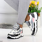 Жіночі кросівки мультиколор, комбінація матеріалів, фото 3