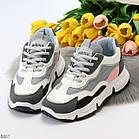 Жіночі кросівки мультиколор, комбінація матеріалів, фото 7