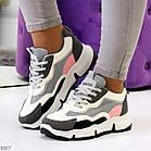 Жіночі кросівки мультиколор, комбінація матеріалів, фото 2